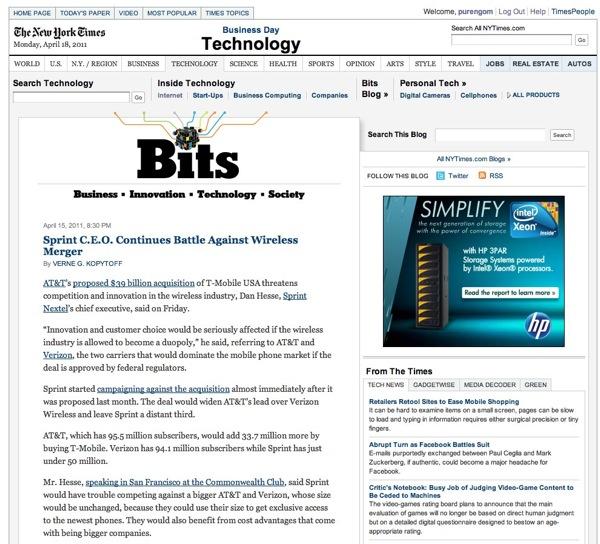 Technology  Bits Blog  NYTimes com